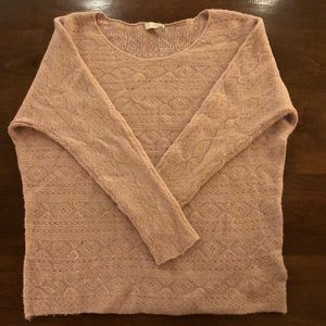 Joie Cashmere Blend Blush Colored Sweater